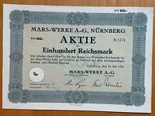 Mars Werke - Duitsland - Nurnberg - 1936 - Aktie 100 RM