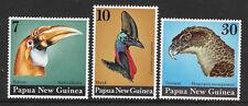 PAPUA NEW GUINEA 1974 BIRDS HEADS 3v MNH