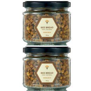 340g BEE BREAD | PERGA | AMBROSIA 2 Jars Vitamins Naturally fermented Bee Pollen