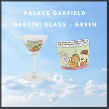 More details for palace garfield martini glass (green)