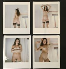 Art Nude Polaroid (instax square) - Girl in stockings x4 (bundle of 4 images)