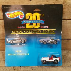 HOT WHEELS 20TH ANNIVERSARY 1968 - 1988 3 CAR SET SPECIAL COLLECTOR'S EDITION #4