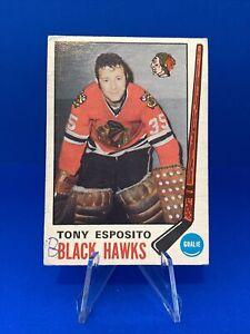 1969-70 O-Pee-Chee Tony Esposito Rookie Card Chicago Blackhawks HOF Goalie RC