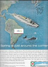 MOORE MCCORMACK LINES CRUISE SS ARGENTINA SPRING IS IN SEPTEMBER IN BRASIL AD