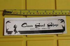 OASIS SURF SHOP Swansea Surfboards Australia AUS Vintage Surfing Decal STICKER