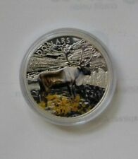 2014 Canada $20 Dollar 9999 silver Caribou with Colour ( RARE) A GEM