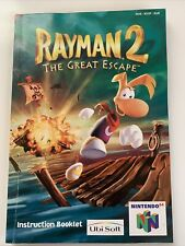 1999 Nintendo 64 Rayman 2 The Great Escape Manual Anleitung Booklet NUS-NY2P-EUR
