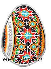 "Canada 2020 20$ Traditional Ukrainian Pysanka Egg Shape 1oz Silver Coin  ""5"""