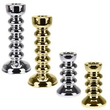 Decorative Silver Or Gold Candlestick Set Candle Holder Wedding Christmas Table