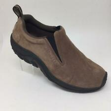 Merrell Jungle Moc Slip On Loafers Suede Shoes Mens 9.5 Brown Dark Earth J65685
