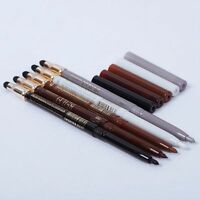 Eyeliner Pencil Waterproof Makeup Tools Eye Shadow Pen Makeup Pen Sponge Brush