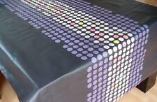 Schnittdecke Tischdecke Baumwolle abwaschbar 100x140cm Rush Punkte schwarz
