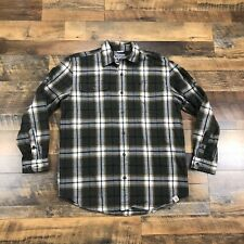 CARHARTT Men's Rugged Heavy Flannel Plaid Long Sleeve Button Down Shirt Size XL