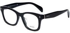 Prada Women's Black Square Classic Eyeglass Frames - PR11S 2AU 53 Made In Italy