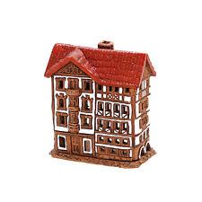 cerámica casa de velas Casita para Portavelas Mini Madera 8cm 40553