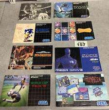 Sega Mega Drive Instruction Manuals Bundle