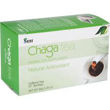 Siberian Chaga Mushroom Tea 20 bags, Wild Organic, Blend of raw & extract powder