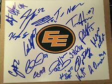 Edmonton Eskimos SIGNED 2019 CFL FOOTBALL 8x10 TEAM photo SEE LIST ELLINGSON +++