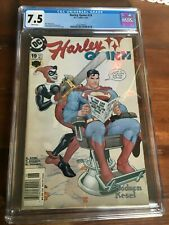 Harley Quinn #19 2002 CGC 7.5 White Pages Funny Superman Chainsaw Cover