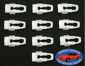 Ford Side Belt Body Fender Door Quarter Hood Trunk Molding Trim Clips 10pcs B