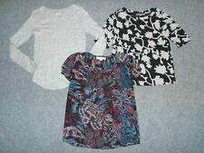 3 Ann Taylor Loft  00004000 Womens Xs Dressy Tops T-Shirt Lot