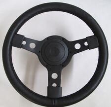 """New 13"""" Leather Steering Wheel & Hub Adaptor Sunbeam Alpine Tiger Black Spokes"""