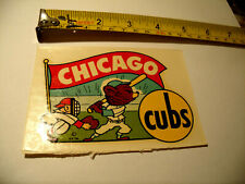 Vintage 1950s Chicago Cubs Cartoon Window Transfer Decal Sticker NOS New Old