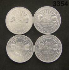 4 - 1939 GOLDEN GATE EXPO UNION PACIFIC ALUM. TOKENS #3354