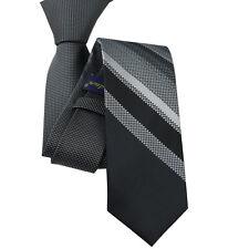 Ailinfadun Mens Ties Gray With Black Plaids Striped Necktie Skinny Tie 6cm