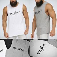 Men Gym Tank Tops Vest Bodybuilding Fitness Stringer Workout  Hip hop t shirt