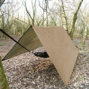 3M*3M Hammock Rain Fly Tent Tarp Waterproof Camping Shelter Sun Shade Outdoor UK