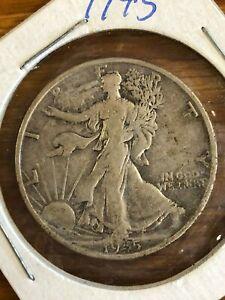 1945 S Walking Liberty Silver Half Dollar