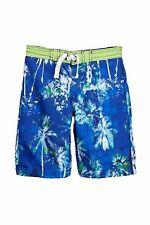 New Tommy Bahama Baby Boys' Infant Palm Tree Swim Trunks Sz 12 Months Blue Green