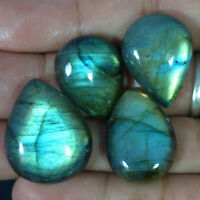 Pear Cab Lot 100% Natural Fire Labradorite Pear Cabochon Loose Gemstone Lot