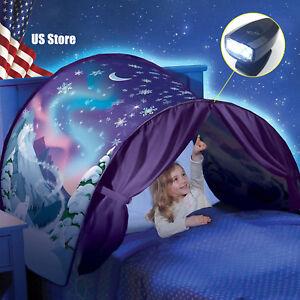Kids Dream Tents Foldable Winter Wonderland Bed LED Light Baby Tent Indoor Xmas