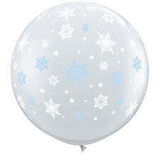 3FT ROUND DIAMOND CLEAR WINTER SNOWFLAKES  - PACK OF 2