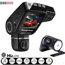 """FHD 1080P 2"""" Car DVR Dual Lens Dash Cam G-sensor Recorder + Night Vision Camera"""