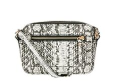 Monsoon Accessorize Mcintyre Camera Bag Black White Snakeskin Bnwt