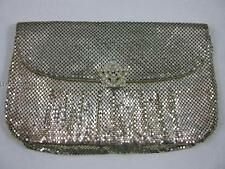 Fabulous vintage Whiting & Davis Silver tone evening clutch rhinestone closure