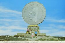 The Canadian Centennial Numismatic Park Sudbury ON Ontario Vintage Postcard D20