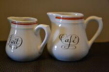 Verseuse café et lait  porcelaine d'Auteuil