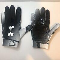 Under Armour Men's Black/White Spotlight Football Gloves Size:XL 1327998-001