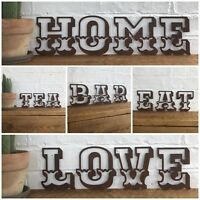 """5"""" RUSTY CARNIVAL LETTERS HOME SHOP RUSTIC FAIRGROUND MARQUEE WORD SIGN A-Z"""