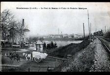 MONTEREAU (77) PASSAGE du TRAIN à l'USINE de PRODUITS CHIMIQUE , ATTELAGE animé