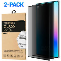 2-Pack Privacy Tempered Glass For Samsung Note 20 Ultra Note 10 S10 S20 Plus