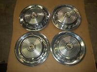 """1957 57 Mercury Hubcap Rim Wheel Cover Hub Cap 14"""" OEM USED SET 4 RINGS"""