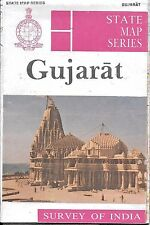 Vintage Map of Gujarat, India, by Survey of India