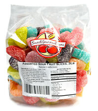 SweetGourmet  Assorted Fruits Sour Slices Candy - 3Lb FREE SHIPPING!