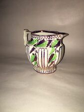 Staffordshire Pearlware Pink Luster Pitcher Floral Vines Fruit Ca. 1820