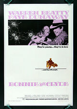 BONNIE AND CLYDE * CineMasterpieces ORIGINAL MOVIE POSTER VIOLENCE GANGSTER 1967